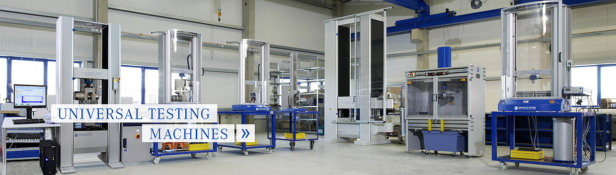 Highly accurate and flexible universal testing machines from Hegewald and Peschke